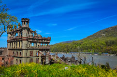 Bannerman Castle and Hudson Valley Rail Royalty Free Stock Image