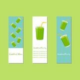 Bannerontwerp met Verse Cocktails Royalty-vrije Stock Afbeelding