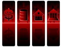 Banners 04 van de Crisis van de Effectenbeurs Royalty-vrije Stock Afbeeldingen