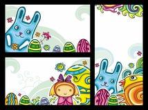 Banners 1 van Pasen Stock Afbeeldingen