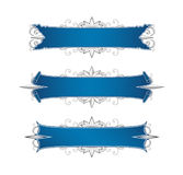 Banners. Three banners with floral ornaments vector illustration