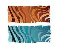 Banners. Isolated banners with stripes pattern an grunge texture Royalty Free Stock Photo