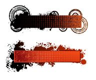 Banners. Two isolated different design  banners Royalty Free Stock Image