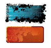 Banners. Two creative design isolated banners Royalty Free Stock Photos