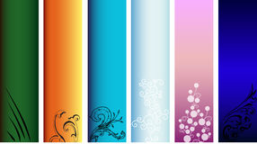 Banners. Colorful banners that can be used on the web or print, as a banner or sidebar for example. Places to add your own text or logo Royalty Free Stock Image