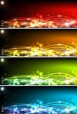 Banners. Abstract red yellow background illustration Vector Illustration