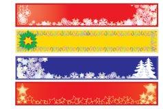 Banners 2 van Kerstmis Stock Fotografie
