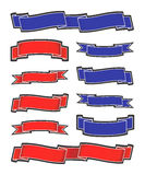 Banners. Blue and red banners on the white backgrounds Royalty Free Illustration