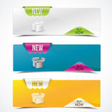 Banners. Set of colorful banners horizontal for product description Stock Photos