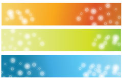 Banners. Vector abstract banner colourful blurred Royalty Free Stock Photography