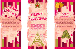 Banners. Christmas decoration - banners for design Stock Images