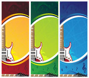 Banners. Guitar banners with place for your text Royalty Free Stock Image