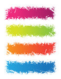 Banners. Colorful banners on the white background Stock Photos