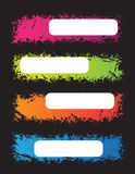 Banners. Colorful banners with place for your text Royalty Free Stock Photos