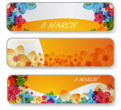 Banners for 8 march. Vector illustration of banners for 8 march royalty free illustration