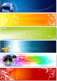 Banners. Set of six banners on different topics Stock Images