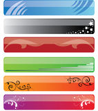 Banners. Samples of colored banners (vector Stock Photo