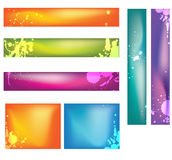 Banners. Banner easy to resize or change color Royalty Free Stock Photography