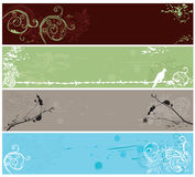 Banners. Set of decorative banners with grungy patterns Stock Photography
