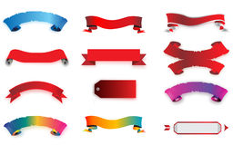 Set of banners. An illustrated set of colorful banners on a white background Royalty Free Stock Photo