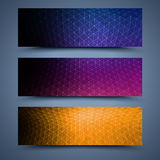 Color banners templates. Abstract backgrounds Royalty Free Stock Photos