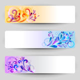 Banners with abstract decoration. Set of banners with abstract decoration royalty free illustration