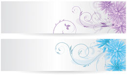 Banners with abstract flowers Royalty Free Stock Photography