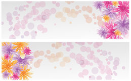 Banners with abstract flowers Stock Photography