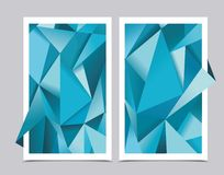 Banners with abstract geometrical background Royalty Free Stock Images