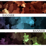 Banners with abstract multicolored mosaic background. Modern geo Stock Photography