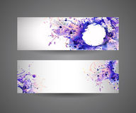 Banners of abstract spray paint. Stock Photography