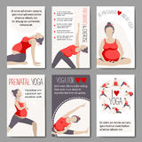 Banners for advertising pregnant yoga. Royalty Free Stock Photography