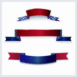 Banners with American flag colors. Royalty Free Stock Image