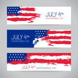 Banners with american flag Stock Photos