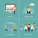 Banners Analytics, brainstorming, time is money Stock Image