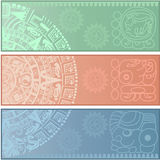 Banners with ancient American ornaments. Vector banners with ancient American ornaments Stock Photography