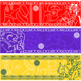 Banners with ancient American ornaments. Vector banners with ancient American ornaments Royalty Free Stock Image