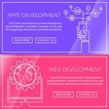 Banners for apps and web development Royalty Free Stock Image