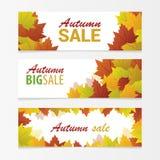 Banners. Autumn sale vector illustration Stock Photos