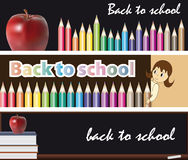 Banners - back to school Stock Photos