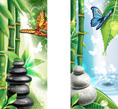 Banners with background of a SPA Royalty Free Stock Images