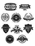 Banners and badges for guarantee design Stock Photography