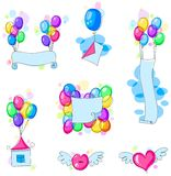 Banners with balloons Royalty Free Stock Photo