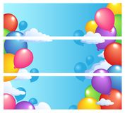 Banners with baloons 1 Stock Images