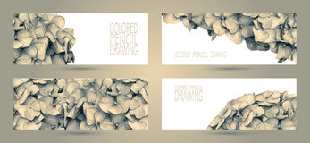 Banners with beautiful spring flowers Stock Images