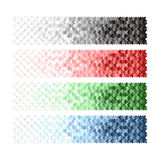 Banners with black blue red white green arrow. Stock Photos