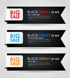 Banners Black Friday sale Royalty Free Stock Image