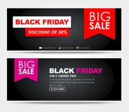 Banners Black Friday sale Stock Images