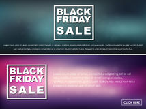 Banners Black Friday sale Stock Photo