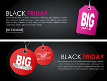 Banners Black Friday sale Stock Photos